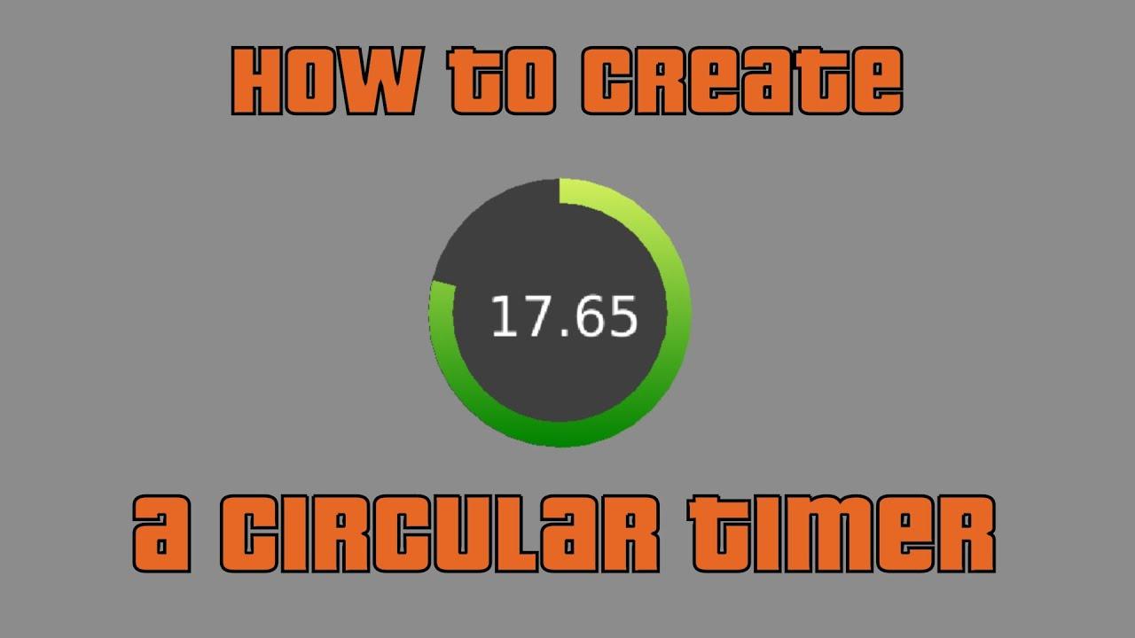How to create a Circular Timer / Progress Bar