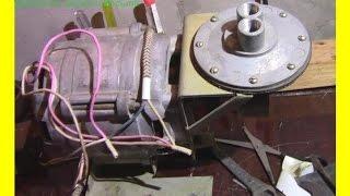 Мембранный компрессор  с двигателем  от стиральной машины.(Вот такая не хитрая конструкция., 2014-09-21T20:52:49.000Z)