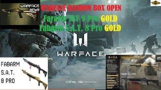 Warface | Random Box Winning | Gold FABARM S.A.T. 8 Pro / Gold Fararm SAT 8 Pro