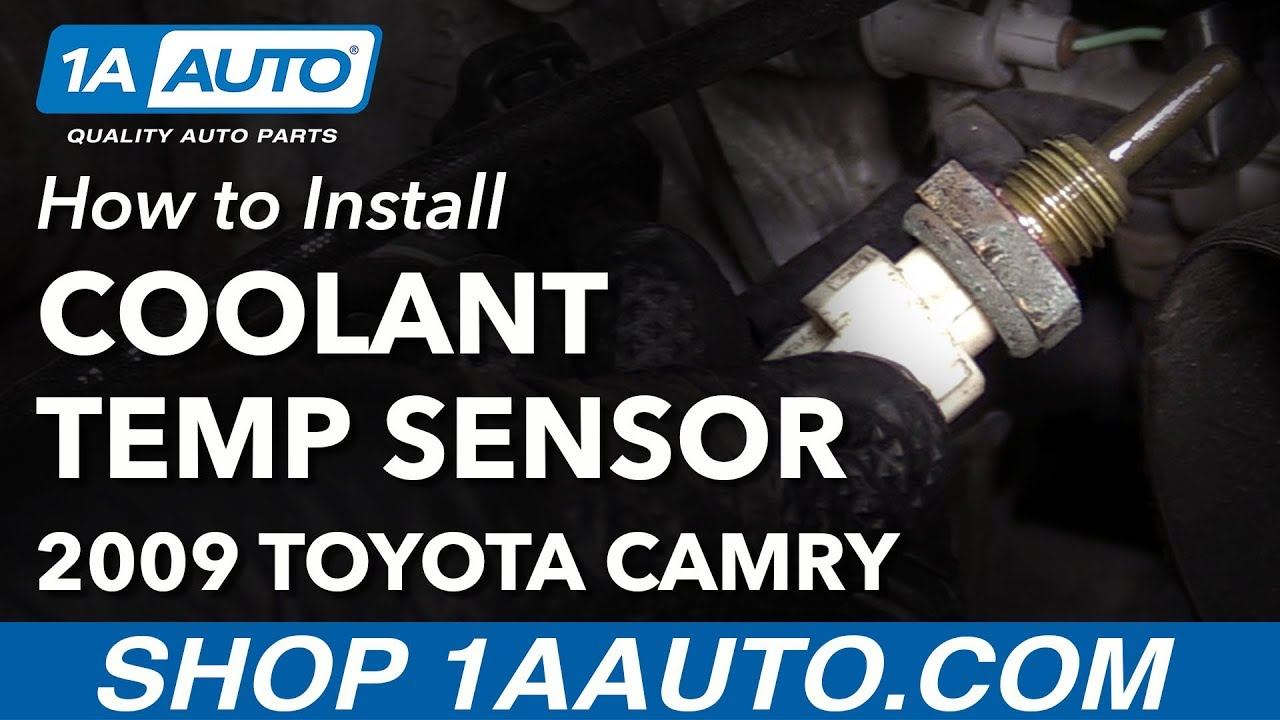 how to install replace coolant temperature sensor 2009 toyota camry [ 1280 x 720 Pixel ]