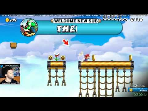 Super Mario Maker - CALLED OUT ON THIS 0.1% CLEAR RATE; DUNKED IT W/ YOSHI SWAG FINISH!