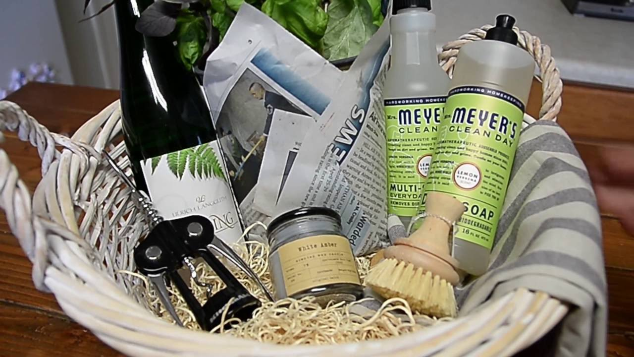 How to put together a housewarming gift basket - YouTube