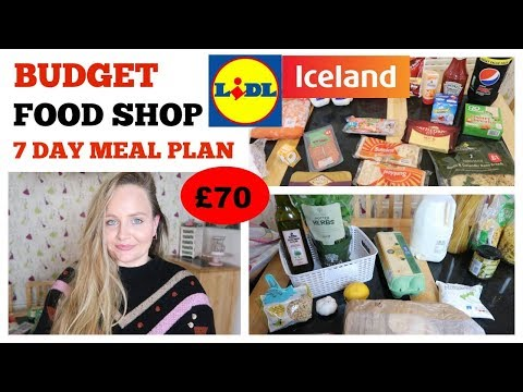 CHEAP FOOD SHOP WITH COUPONS UK / FAMILY MEAL IDEAS / FRUGAL MONEY SAVING ICELAND & LIDL