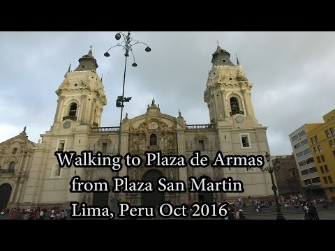 Walking to Plaza de Armas Lima, Peru