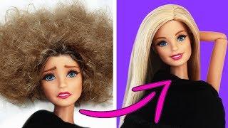 как сделать прическу кукле если короткие волосы