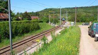 Passage à niveau de Messia-sur-Sorne dans le Jura.