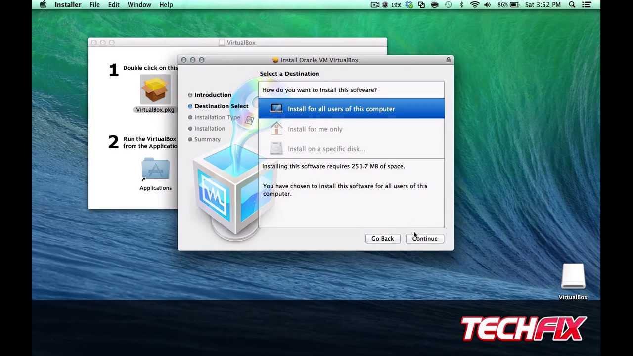 Mac os install in virtualbox free