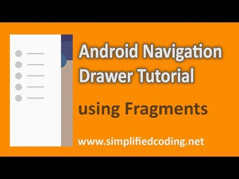 Android Navigation Drawer Tutorial using Fragments - Updated