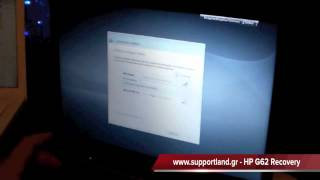 hp g62 laptop recovery