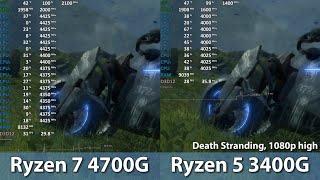 Ryzen 5 3400G vs Ryzen 7 4700G in 5 Games iGPU Comparison