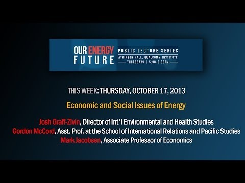 Our Energy Future - Economic and Social Issues of Energy LIVE WEBCAST