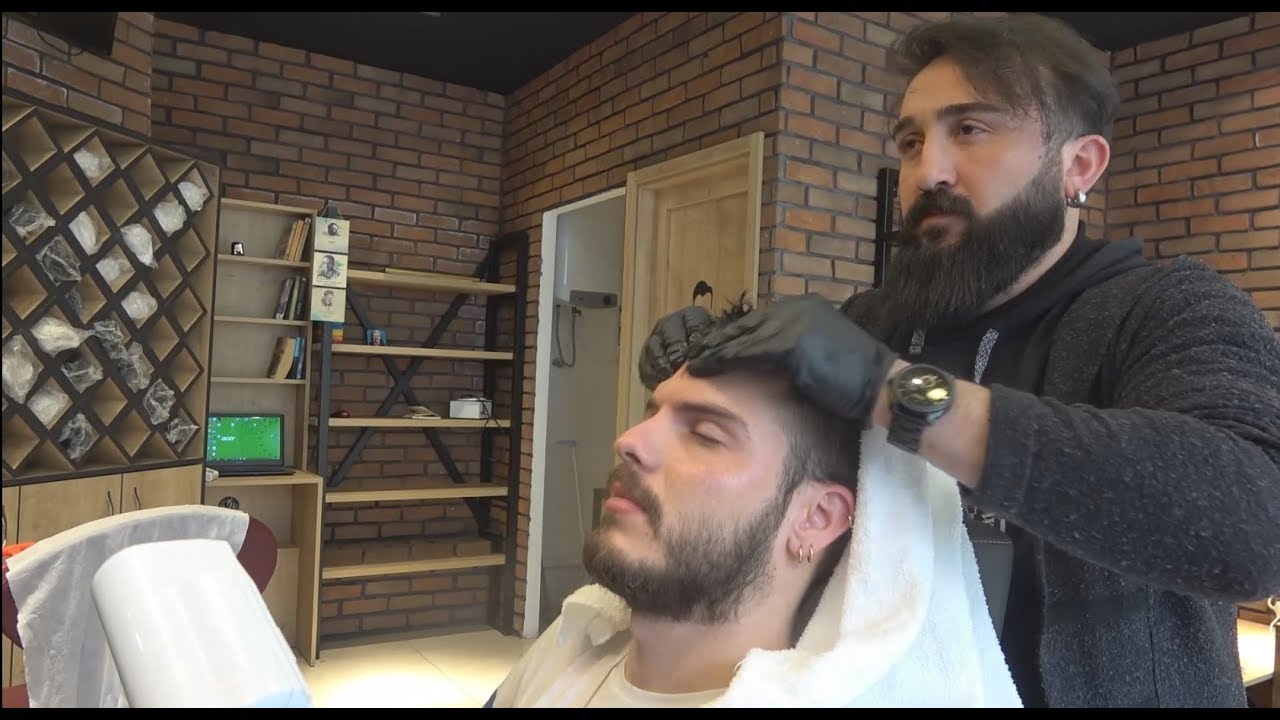 ASMR Turkish Barber Face, Head and Body Massage 249