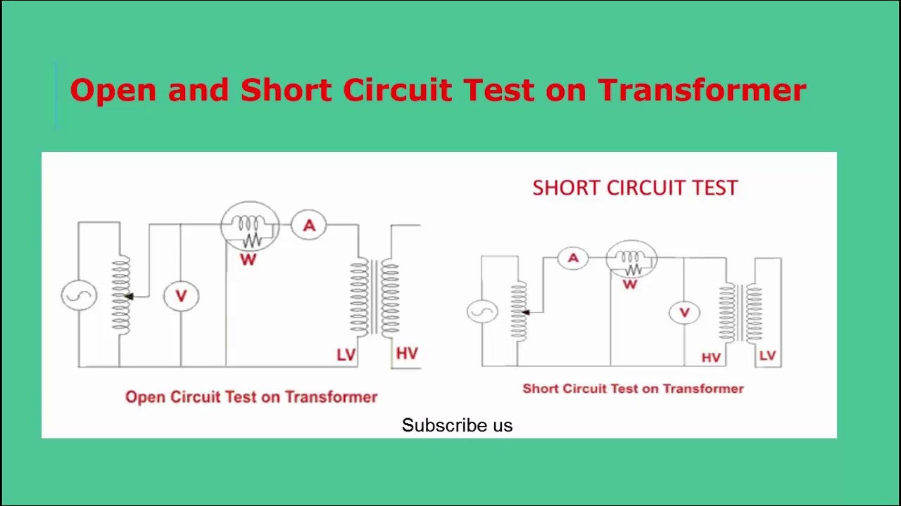 Open Closed Circuit Testers : Open and short circuit test on transformer universal