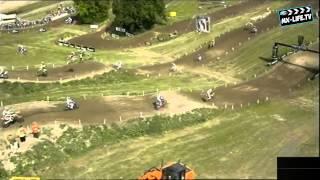 2013 MXGP of Great Britain - Tim Gajser Horrible Crash Matterley Basin