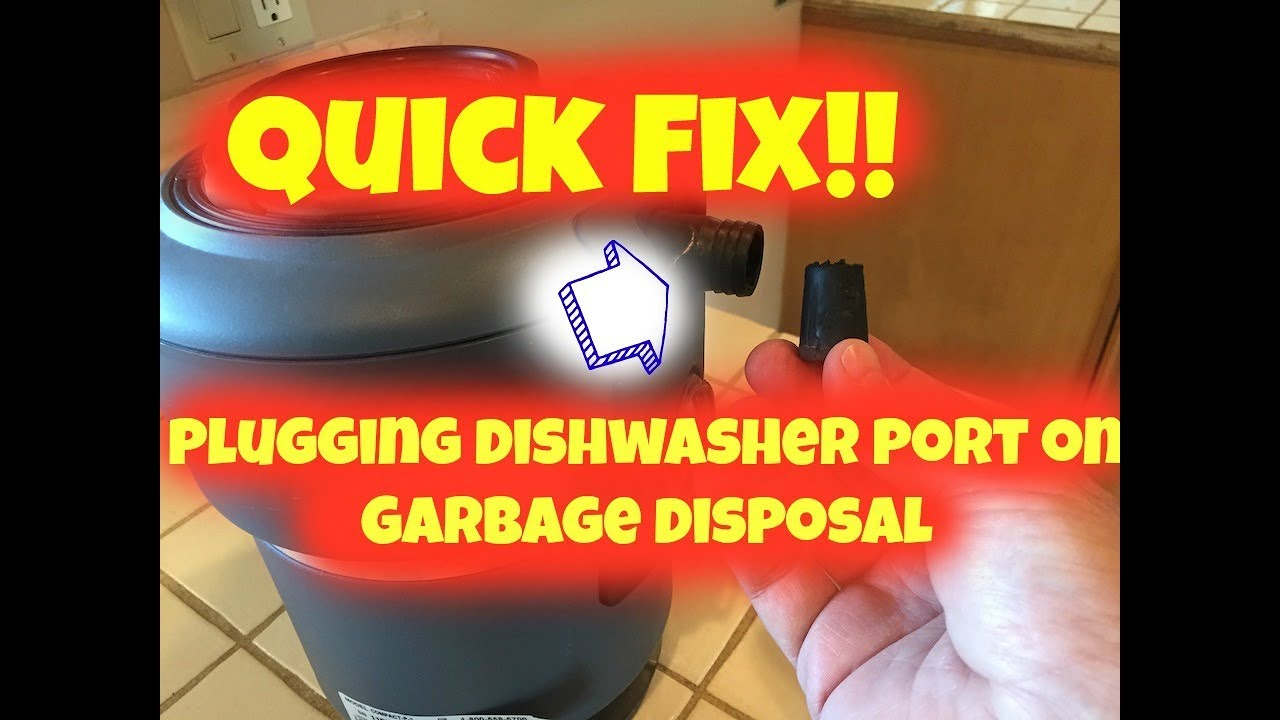 How To Plug A Dishwasher Drain On Garbage Disposal Youtube