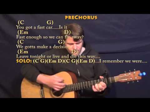 Fast Car (Tracy Chapman) Strum Guitar Cover Lesson with Chords/Lyrics - Capo 2nd