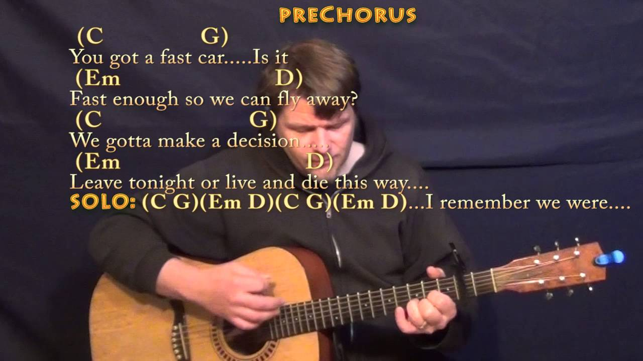 Fast Car Tracy Chapman Strum Guitar Cover Lesson With Chords