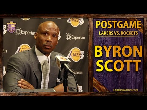Lakers vs. Rockets: Byron Scott Talks Julius Randle's Injury, Dwight And Kobe Scuffle