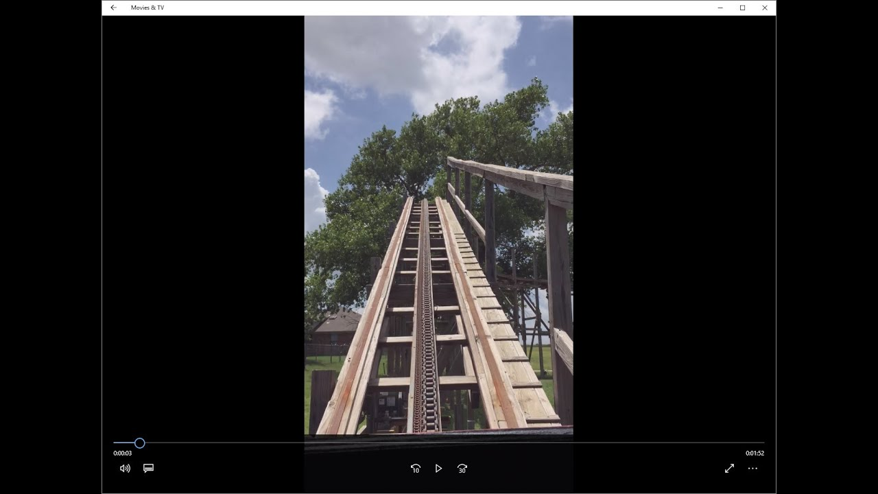 oklahoma land run backyard roller coaster pov hd youtube