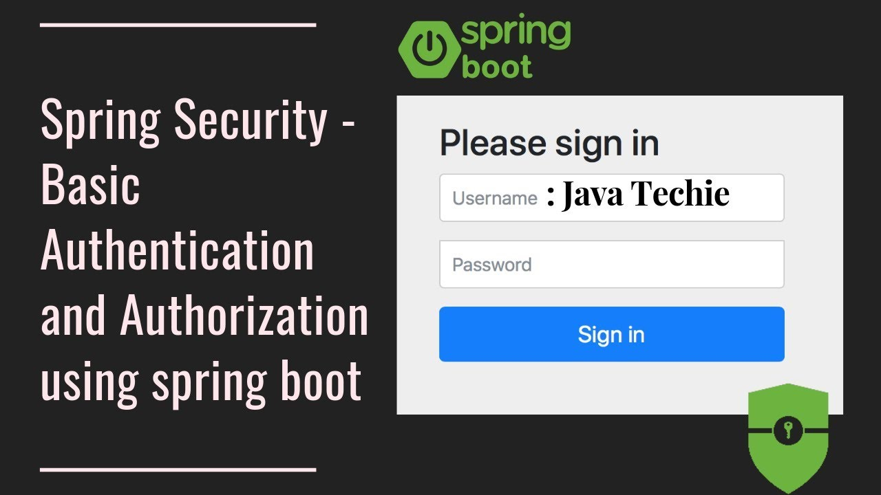 Spring Security : Basic Authentication and Authorization using spring boot  | Java Techie