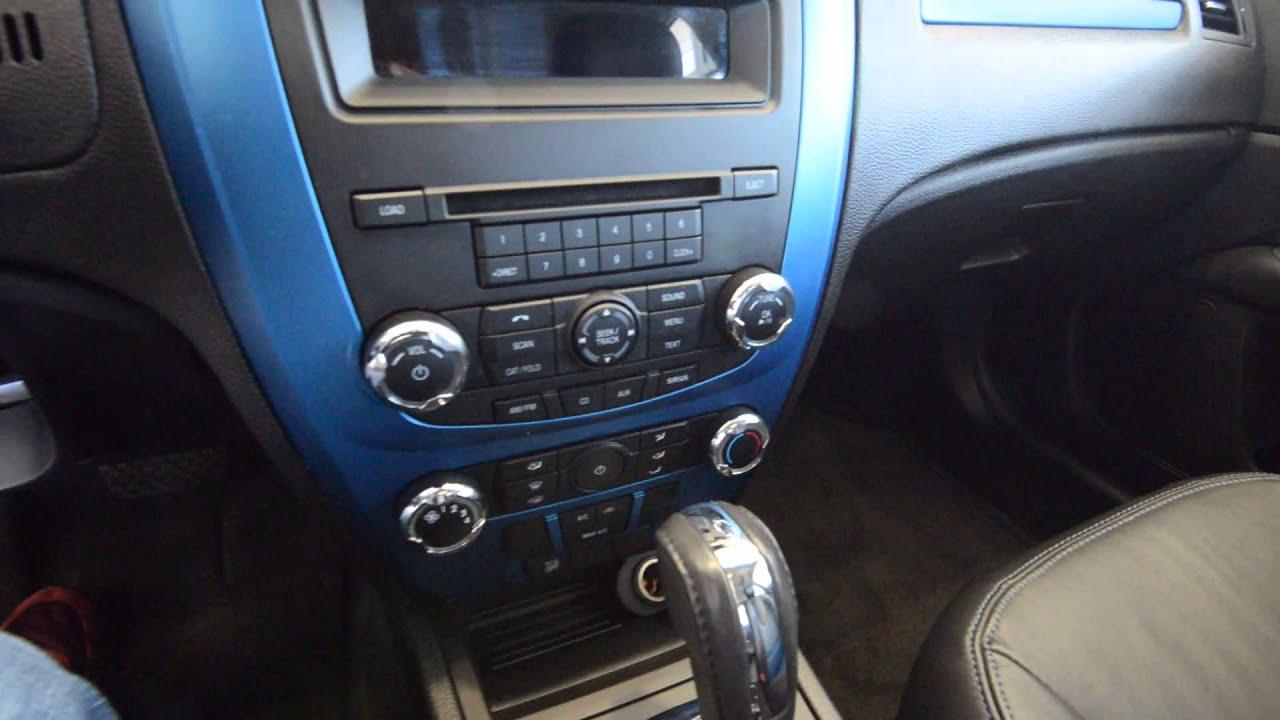 2011 ford fusion sport v6 blue stk 3717a for sale at trend motors used car center rockaway. Black Bedroom Furniture Sets. Home Design Ideas