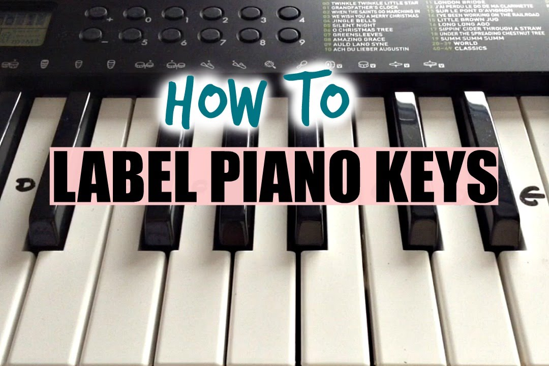 How To Label Your Keyboard Piano With Letters Black & White Keys