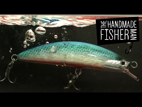 Making A Weight Shift Balsa Fishing Lure Part 3 Of 3