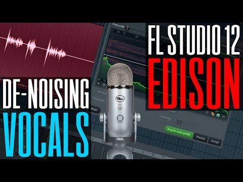 How to De-Noise vocals using Edison in FL Studio 12 - Remove background noise, hum, pc noise