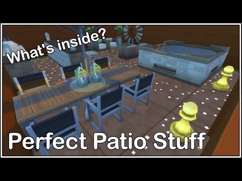 The sims 4| what's inside| The Perfect Patio Stuff Pack |
