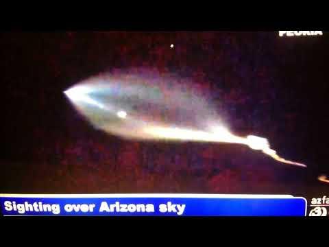 Strange Sighting Over Phoenix Arizona: Space X Rocket: UFO or Both?