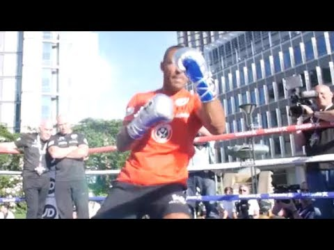 KELL BROOK GETS CROWD FIRED UP; SHOWS OFF SLICK MOVES AS HE SHADOWBOXES FOR ERROL SPENCE CLASH