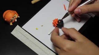 polymer clay tutorial | Hinata Shoyo keychain |