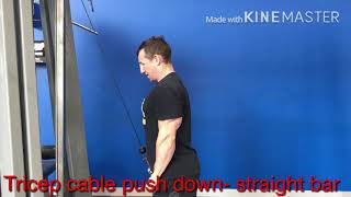 Tricep cable pushdown - straight bar
