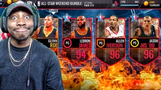 ALL-STAR WEEKEND PACK OPENING & 96 JASON WILLIAMS! NBA Live Mobile 16 Gameplay Ep. 77
