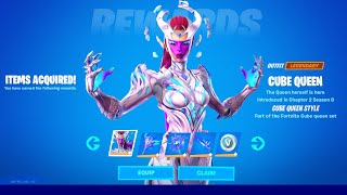 How to Unlock Cขbe Queen Skin in Fortnite (All Cube Queen Challenges Reward)