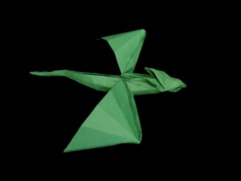 hd origami flying dragon tutorial youtube