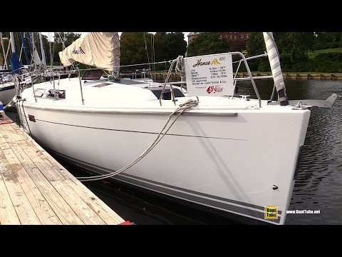 2009 Hanse 400E Sailing Yacht - Deck and interior Walkaround - 2015 Annapolis Sail Boat Show