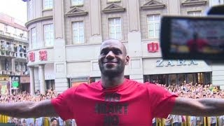 LeBron James from Miami to China