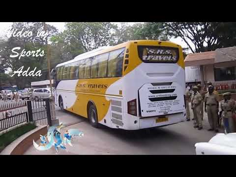 India vs Australia 4th ODI Bangalore 28th SEP 2017 | Team India Bus Entering Chinnaswamy Stadium