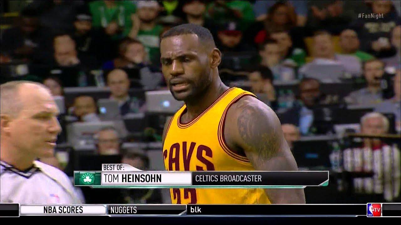 "Tom Heinsohn calls LeBron James a ""crybaby"" Boston Celtics vs"