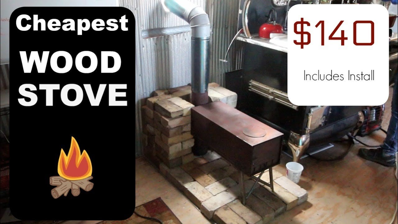 Cheapest Wood Stove Installation For Tiny House Ever