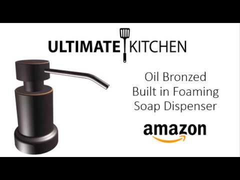 Built In FOAMING Sink Soap Dispenser   Oil Bronzed Finish