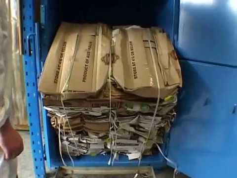 Mil-tek cardboard compactor at a food industry Breadwinner in Melbourne
