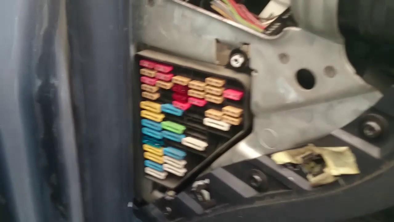 1996 Kia Sportage Fuse Box Diagram Fusible Fundido Del Cierre Centralizado Youtube