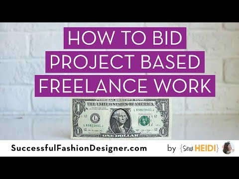 How to Calculate Project Based Freelance Work for Fashion Designers