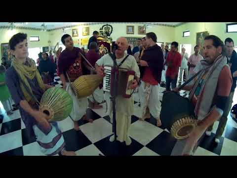 Adikarta Prabhu and Friends Chant Hare Krishna at Alachua Sunday Feast