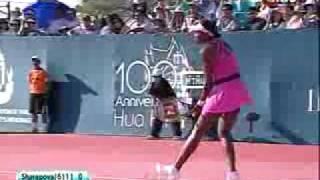 Maria Sharapova vs. Venus Williams HUA HIN EXHIBITION 4/6