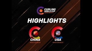 China v United States - Mixed Doubles Highlights - Curling World Cup First Leg – Suzhou