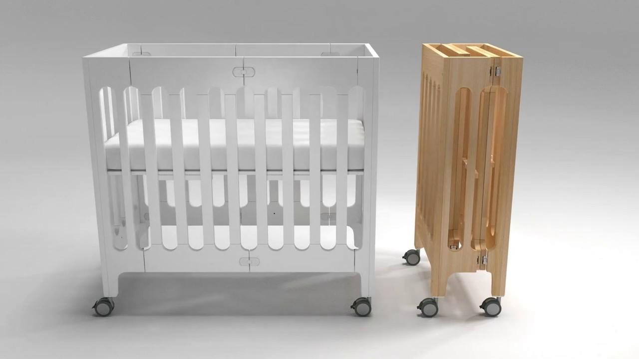 alma mini solid wood crib sleep fold store