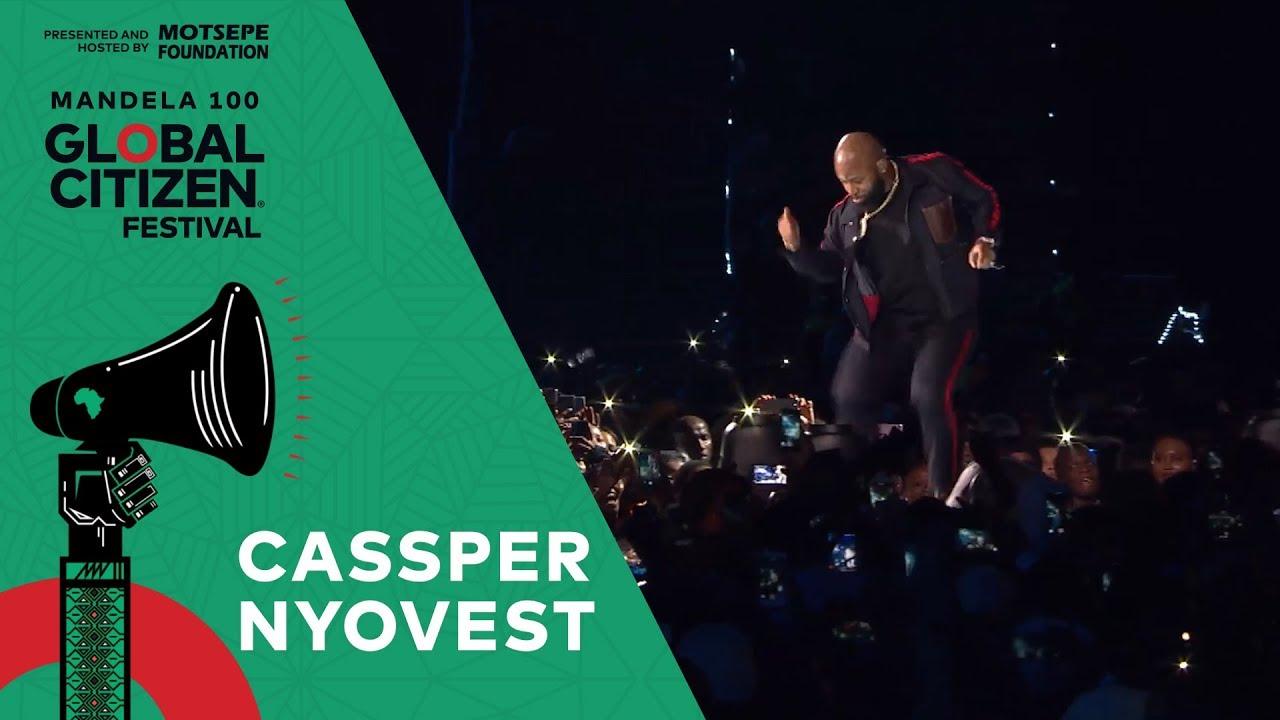 """Cassper Nyovest Performs """"Monate Mpolaye""""   Global Citizen Festival: Mandela 100"""